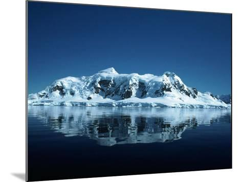 Glacier and Reflection, Paradise Bay, Antarctica-Yvette Cardozo-Mounted Photographic Print
