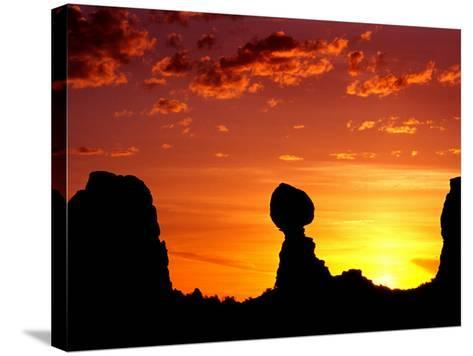 Utah, Arches National Park, Balanced Rock-Russell Burden-Stretched Canvas Print