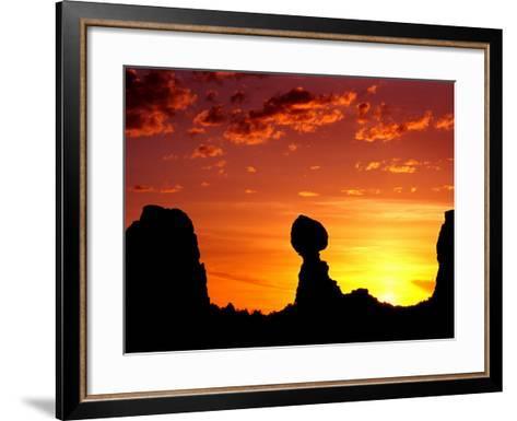 Utah, Arches National Park, Balanced Rock-Russell Burden-Framed Art Print