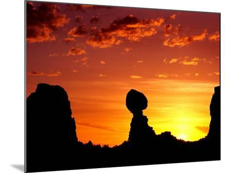 Utah, Arches National Park, Balanced Rock-Russell Burden-Mounted Photographic Print