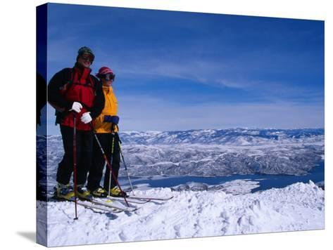 Skiiers in Deer Valley, Park City, Park City, Utah, USA-Cheyenne Rouse-Stretched Canvas Print