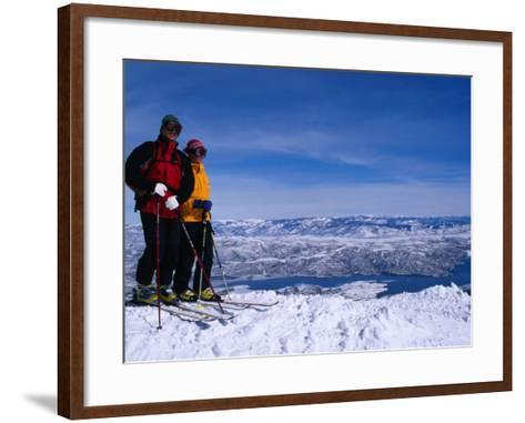 Skiiers in Deer Valley, Park City, Park City, Utah, USA-Cheyenne Rouse-Framed Art Print
