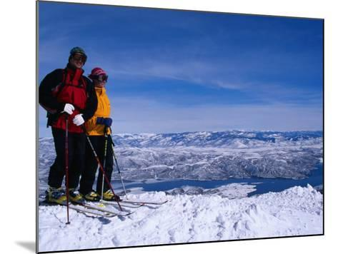 Skiiers in Deer Valley, Park City, Park City, Utah, USA-Cheyenne Rouse-Mounted Photographic Print