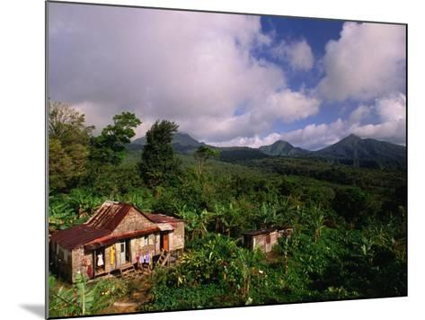 Overhead of House in Rainforest, Roseau Valley, Dominica-Michael Lawrence-Mounted Photographic Print