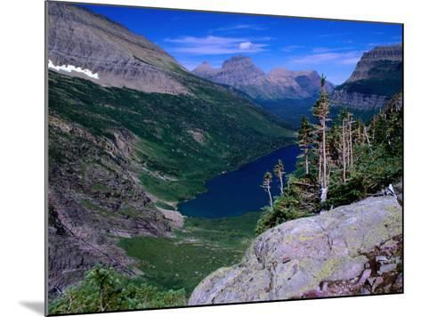 Lake Ellen Wilson and Canyon Walls, Glacier National Park, USA-Aaron McCoy-Mounted Photographic Print