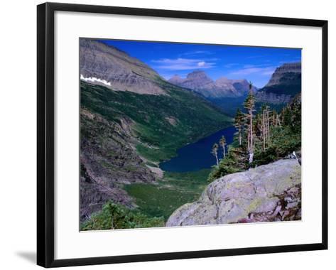 Lake Ellen Wilson and Canyon Walls, Glacier National Park, USA-Aaron McCoy-Framed Art Print