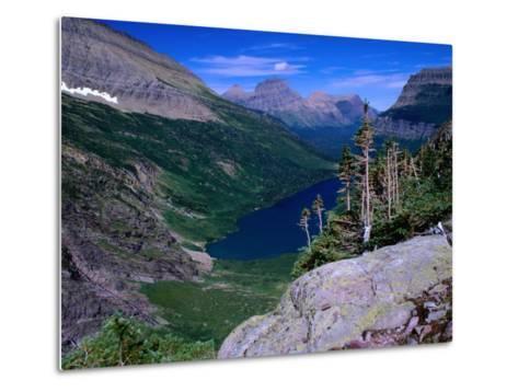 Lake Ellen Wilson and Canyon Walls, Glacier National Park, USA-Aaron McCoy-Metal Print