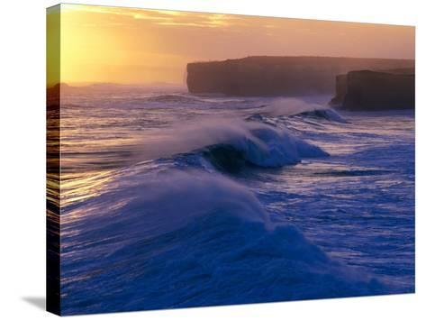 Waves Breaking off the Coast of the Port Campbell National Park, Australia-Rodney Hyett-Stretched Canvas Print
