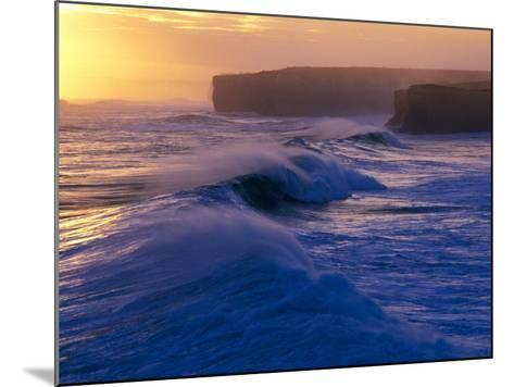 Waves Breaking off the Coast of the Port Campbell National Park, Australia-Rodney Hyett-Mounted Photographic Print