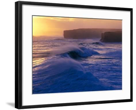 Waves Breaking off the Coast of the Port Campbell National Park, Australia-Rodney Hyett-Framed Art Print