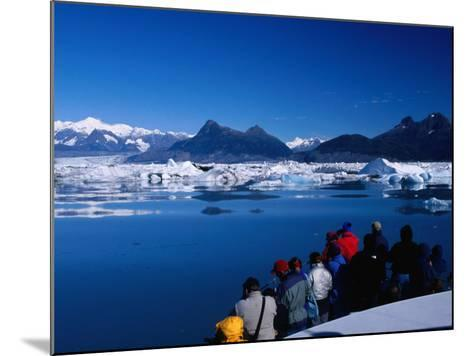 People on Tour Boat Looking Over Columbia Glacier, Prince William Sound, USA-Brent Winebrenner-Mounted Photographic Print