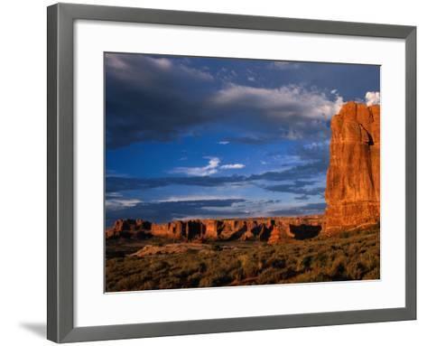 """""""Entrada"""" Sandstone Cliffs and Desert Landscape, Arches National Park, USA-Brent Winebrenner-Framed Art Print"""