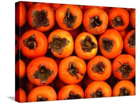 Persimmons from a Stall in the Central Market, Athens, Attica, Greece-Setchfield Neil-Stretched Canvas Print
