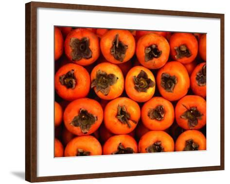 Persimmons from a Stall in the Central Market, Athens, Attica, Greece-Setchfield Neil-Framed Art Print
