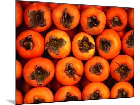Persimmons from a Stall in the Central Market, Athens, Attica, Greece-Setchfield Neil-Mounted Photographic Print