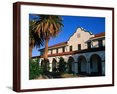 Kelso Railroad Depot and Visitors Centre in Mojave National Preserve, California, USA-Stephen Saks-Framed Art Print