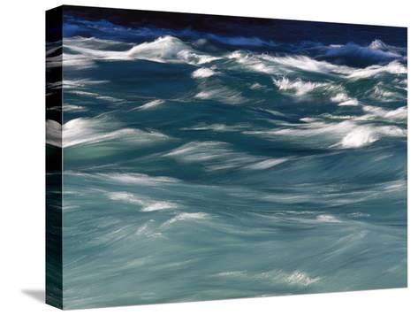 Aqua Blue Waves-Skip Brown-Stretched Canvas Print