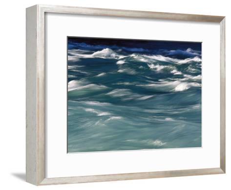 Aqua Blue Waves-Skip Brown-Framed Art Print