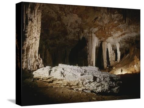 A Fallen Column Litters the Cave Floor-Stephen Alvarez-Stretched Canvas Print
