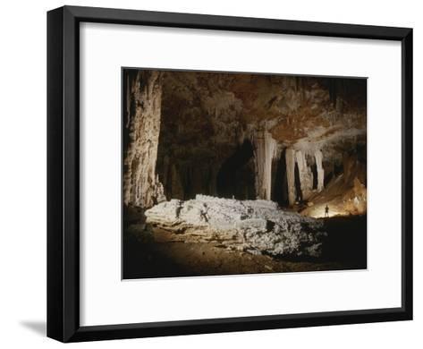 A Fallen Column Litters the Cave Floor-Stephen Alvarez-Framed Art Print