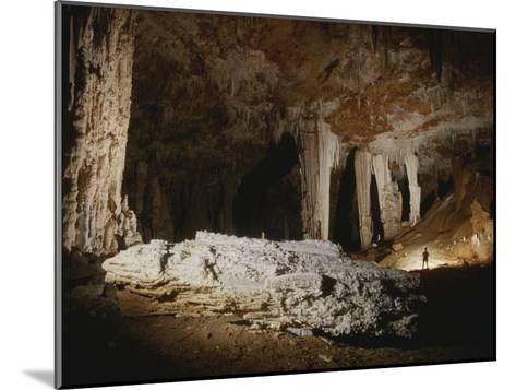 A Fallen Column Litters the Cave Floor-Stephen Alvarez-Mounted Photographic Print
