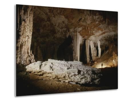 A Fallen Column Litters the Cave Floor-Stephen Alvarez-Metal Print