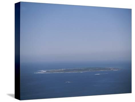 An Aerial View of Robben Island; Robben Island is Home to the Prison Where Nelson Mandela was Kept-Joel Sartore-Stretched Canvas Print
