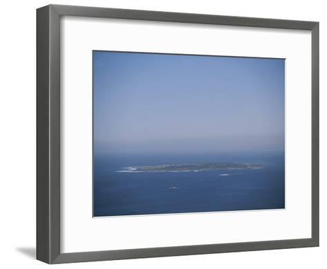 An Aerial View of Robben Island; Robben Island is Home to the Prison Where Nelson Mandela was Kept-Joel Sartore-Framed Art Print