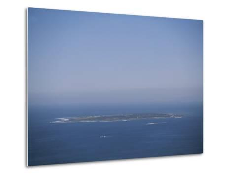 An Aerial View of Robben Island; Robben Island is Home to the Prison Where Nelson Mandela was Kept-Joel Sartore-Metal Print