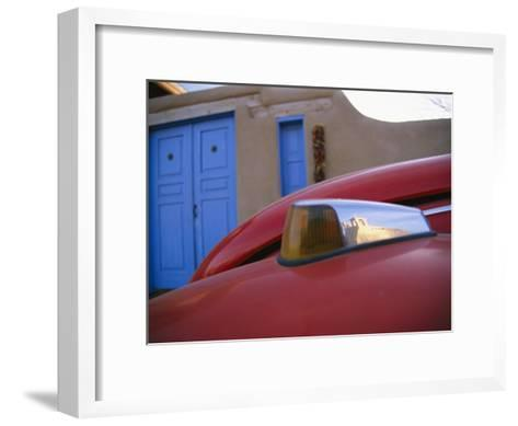 A Colorful Street Reflects the Ancient San Francisco De Asis Mission-Stephen St^ John-Framed Art Print