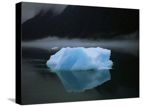 An Iceberg Rises out of the Icy Waters of Southeast Alaska-Ralph Lee Hopkins-Stretched Canvas Print