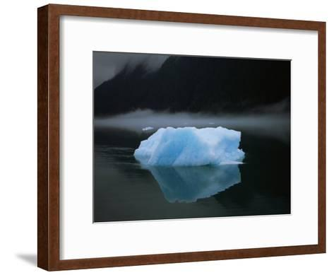 An Iceberg Rises out of the Icy Waters of Southeast Alaska-Ralph Lee Hopkins-Framed Art Print