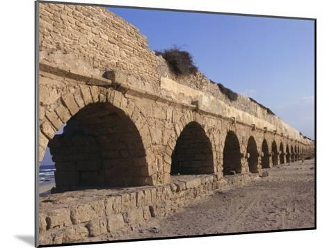A Relatively Intact Roman Aqueduct Near the Mediterranean Sea-Nick Caloyianis-Mounted Photographic Print