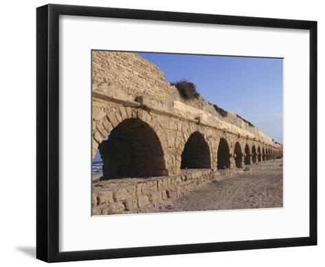 A Relatively Intact Roman Aqueduct Near the Mediterranean Sea-Nick Caloyianis-Framed Art Print