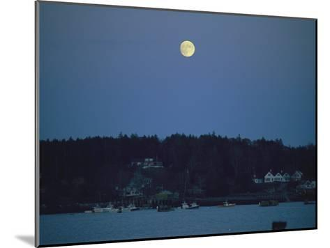 Moonrise over the Coastline of Friendship, Maine-Nick Caloyianis-Mounted Photographic Print