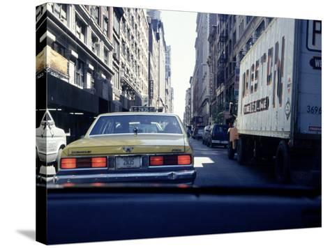 Yellow Taxi in Traffic, NYC, NY-Chris Minerva-Stretched Canvas Print