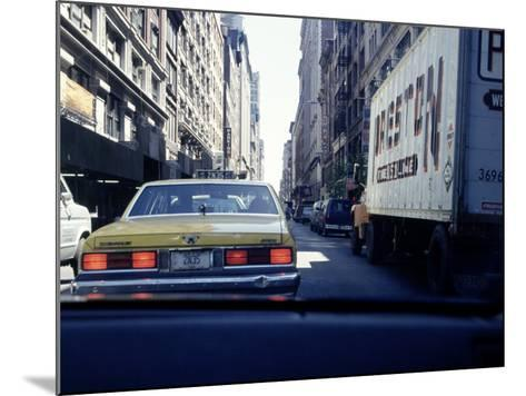 Yellow Taxi in Traffic, NYC, NY-Chris Minerva-Mounted Photographic Print