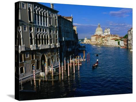 Buildings at Northern Mouth of Grand Canal, Venice, Italy-Bethune Carmichael-Stretched Canvas Print