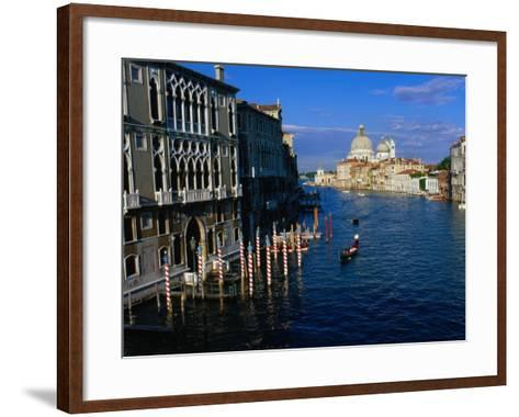 Buildings at Northern Mouth of Grand Canal, Venice, Italy-Bethune Carmichael-Framed Art Print