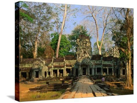 West Entrance of Ta Prohm Temple, Angkor, Siem Reap, Cambodia-Anders Blomqvist-Stretched Canvas Print