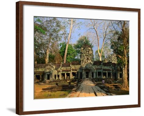 West Entrance of Ta Prohm Temple, Angkor, Siem Reap, Cambodia-Anders Blomqvist-Framed Art Print