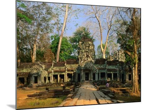 West Entrance of Ta Prohm Temple, Angkor, Siem Reap, Cambodia-Anders Blomqvist-Mounted Photographic Print