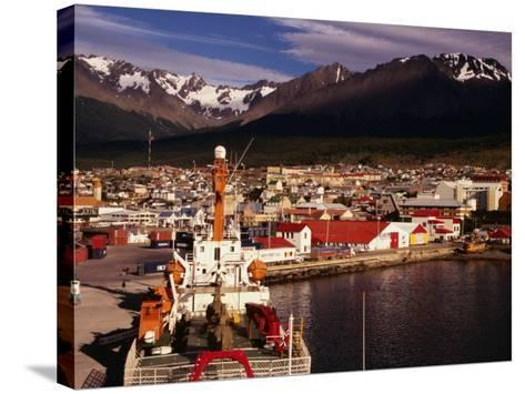 Harbour of City, Ushuaia, Argentina-Wayne Walton-Stretched Canvas Print