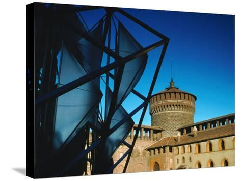 Both Old and New Buildings Milan, Lombardy, Italy-John Hay-Stretched Canvas Print