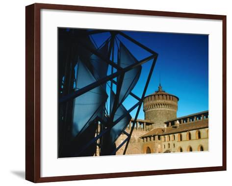 Both Old and New Buildings Milan, Lombardy, Italy-John Hay-Framed Art Print