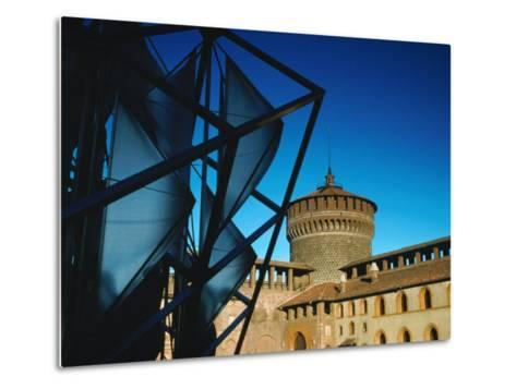 Both Old and New Buildings Milan, Lombardy, Italy-John Hay-Metal Print