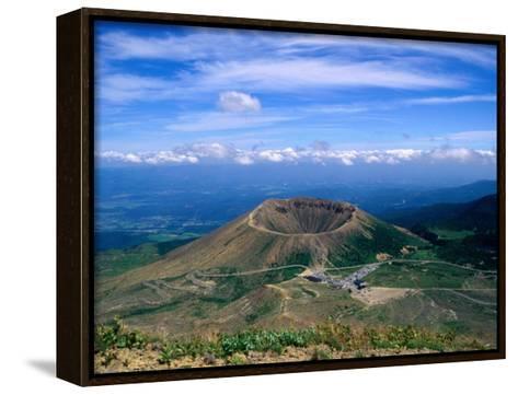 Crater of Zuma-Kofuji (Azuma's Little Mt. Fuji) on Bandai-Azuma Skyline, Fukushima, Japan-Martin Moos-Framed Canvas Print