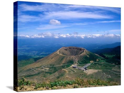 Crater of Zuma-Kofuji (Azuma's Little Mt. Fuji) on Bandai-Azuma Skyline, Fukushima, Japan-Martin Moos-Stretched Canvas Print