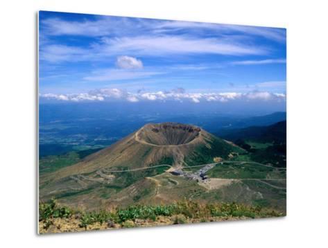 Crater of Zuma-Kofuji (Azuma's Little Mt. Fuji) on Bandai-Azuma Skyline, Fukushima, Japan-Martin Moos-Metal Print