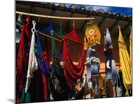 Hammocks and Clothing in Handicraft Shop, Raquira, Boyaca, Colombia-Krzysztof Dydynski-Mounted Photographic Print